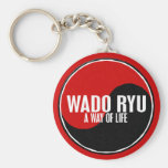 Yin Yang Wado Ryu 1 Llavero Redondo Tipo Pin