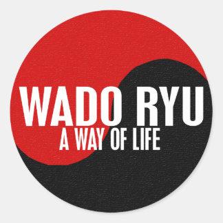 Yin Yang Wado Ryu 1 Round Sticker