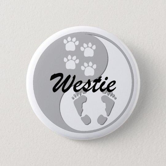 yin yang westie button