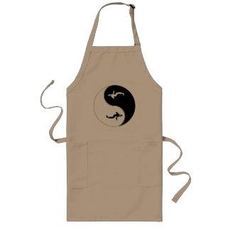 Yin Yang Whale Long Apron