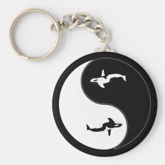 Yin Yang Whale Key Chain