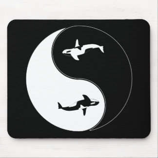 Yin Yang Whale Mouse Pad