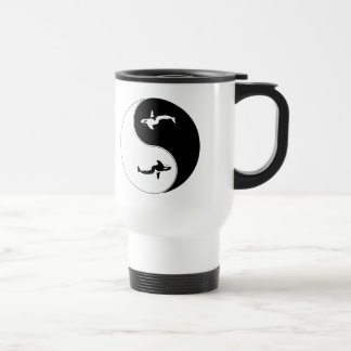 Yin Yang Whale 15 Oz Stainless Steel Travel Mug