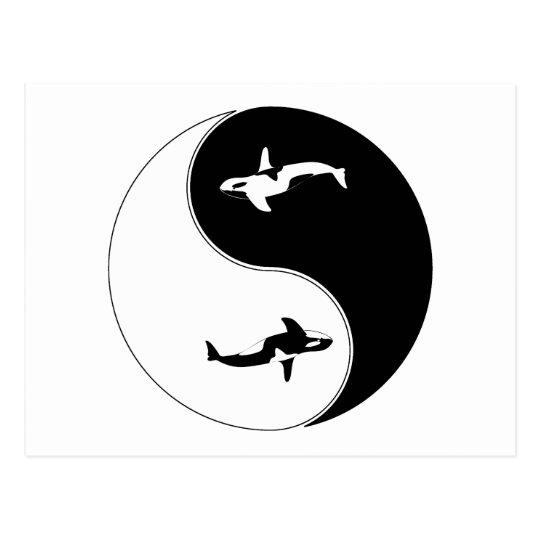 Yin Yang Whale Postcard