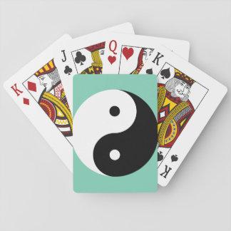 Yin Yang - white black Playing Cards