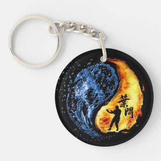 "Yin Yang - Wing Chun ""Kung Fu"" Ip Man Linage Single-Sided Round Acrylic Keychain"