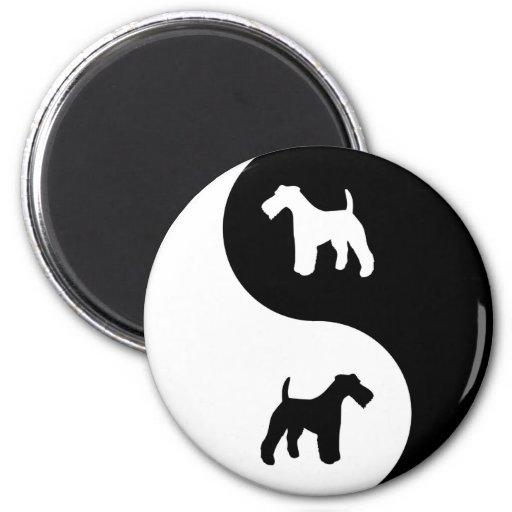 Yin Yang Wire Fox 2 Inch Round Magnet