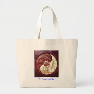 Yin-Yang with Child/Bag Large Tote Bag