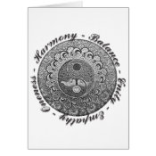 Yin Yang with Tree of Life and Positive Words Card (<em>$3.15</em>)