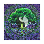 Yin Yang with Tree of Life Canvas Print (<em>$203.05</em>)