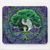 Yin Yang with Tree of Life Mouse Pad (<em>$11.60</em>)