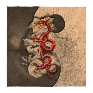 Yin Yang y dragón Posavasos