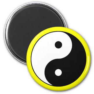 Yin Yang Yellow Magnet