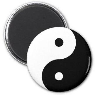 Yin Yang Ying Taoism Sign Chinese Taijitu Black 2 Inch Round Magnet