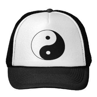 Yin Yang Ying Taoism Sign Chinese Taijitu Black Trucker Hats