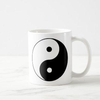 Yin Yang Ying Taoism Sign Chinese Taijitu Black Coffee Mugs