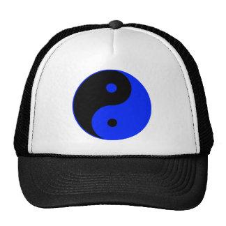 Yin Yang Ying Taoism Sign Chinese Taijitu Blue Trucker Hat