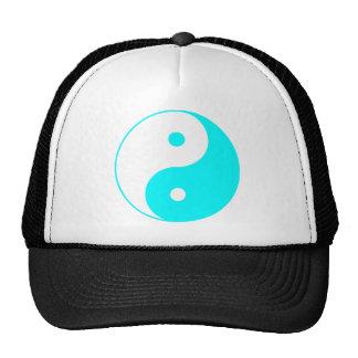 Yin Yang Ying Taoism Sign Chinese Taijitu Blue Hat