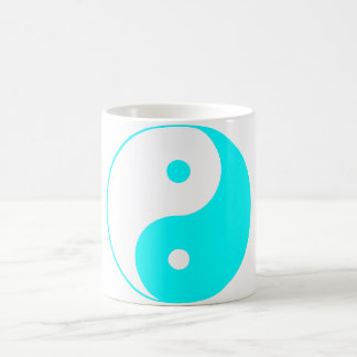 Yin Yang Ying Taoism Sign Chinese Taijitu Blue Mug
