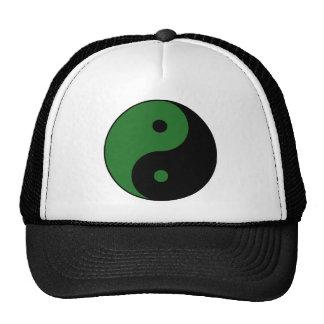Yin Yang Ying Taoism Sign Chinese Taijitu Green Mesh Hat