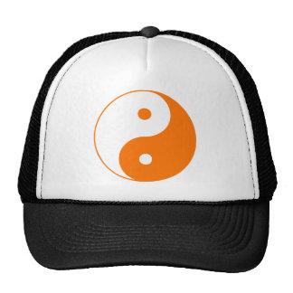 Yin Yang Ying Taoism Sign Chinese Taijitu Orange Hats