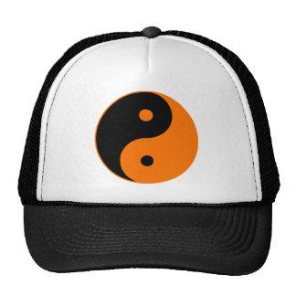 Yin Yang Ying Taoism Sign Chinese Taijitu Orange Trucker Hats