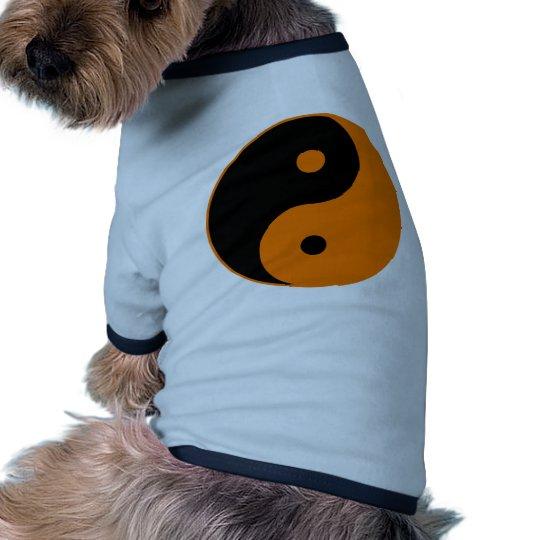 Yin Yang Ying Taoism Sign Chinese Taijitu Orange Shirt