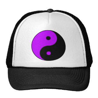 Yin Yang Ying Taoism Sign Chinese Taijitu Purple Trucker Hat