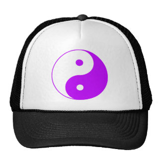 Yin Yang Ying Taoism Sign Chinese Taijitu Purple Mesh Hat