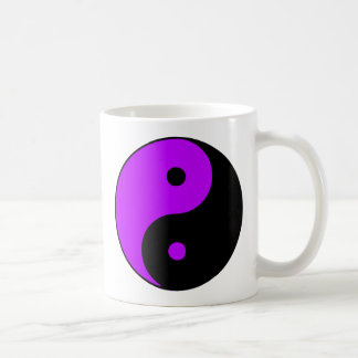 Yin Yang Ying Taoism Sign Chinese Taijitu Purple Mug