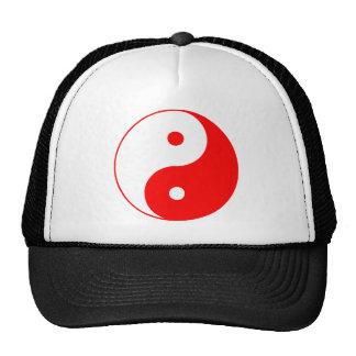 Yin Yang Ying Taoism Sign Chinese Taijitu Red Trucker Hat