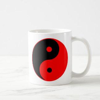Yin Yang Ying Taoism Sign Chinese Taijitu Red Mug