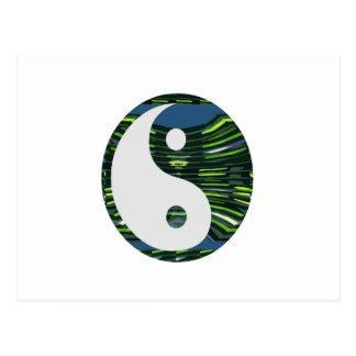 YIN YANG YINyang balance chinese symbol NVN248 Postcard
