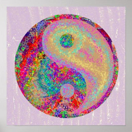 YIN YANG YinYang Chinese Life Balance Symbol Poster