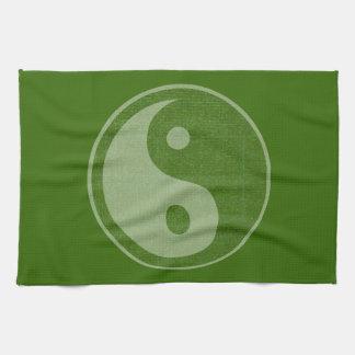YIN YANG YINYANG GREEN nvn166 navinJOSHI FUN ART Towels
