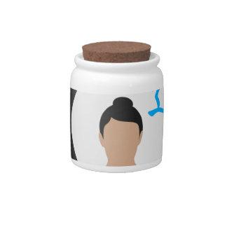 Yin Yang Yoga Peace Candy Jars