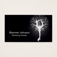 Yin Yang Yoga Tree Business Card