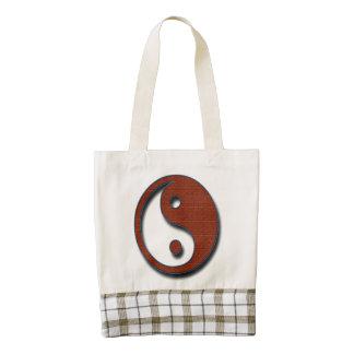 Yin Yang Zazzle HEART Tote Bag