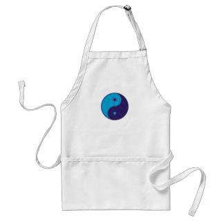 yin yang zen meditation tao apron