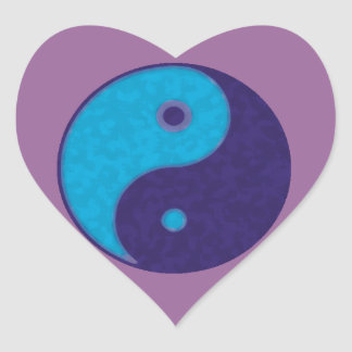 yin yang zen meditation tao heart sticker