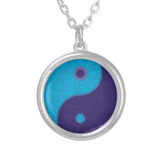 yin yang zen meditation tao silver plated necklace