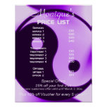 Yin Yang zen yoga price list Poster