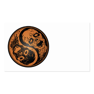 Yin Yang Zombies Brown and Black Business Card