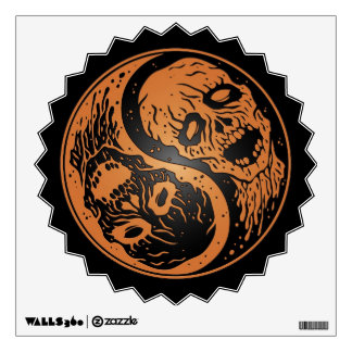 Yin Yang Zombies Brown and Black Wall Sticker