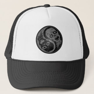 Yin Yang Zombies Grey and Black Trucker Hat