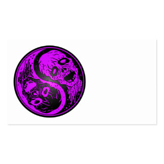 Yin Yang Zombies Purple and Black Business Card