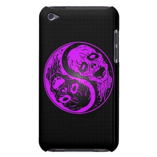 Yin Yang Zombies Purple and Black Barely There iPod Covers