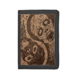 Yin Yang Zombies with Wood Grain Effect Wallet