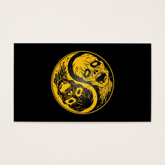 Yin Yang Zombies Yellow and Black Business Card