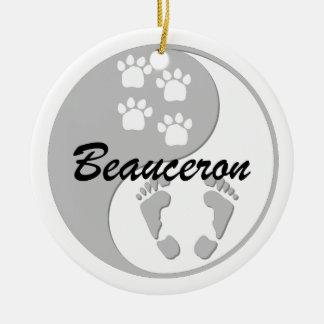 yin ynag Beauceron Ornaments